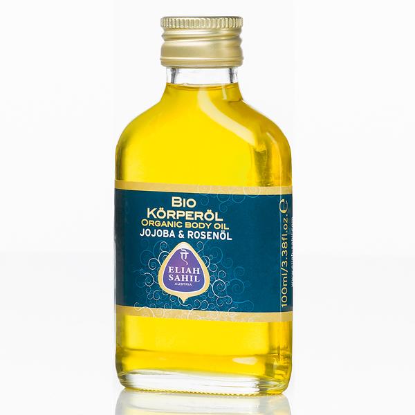 Eliah Sahil_Ájurvédský bio jojobový tělový a pleťový olej s růží 100 ml